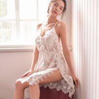 Pyjamas sexy femme de sommeil de femme en dentelle transparente dentelle érotique robe de nuit robe à manches Jupe sans manches Costumes adultes OneSies Lingerie