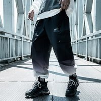 Pantalones para hombres ropa de otoño herramientas de otoño hiphop gran bolsillo harlan pantalones harajuku gradientes jogger carga calle streetwear Michalkova