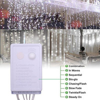 15M은 3M LED 따뜻한 화이트 라이트 로맨틱 크리스마스 웨딩 야외 장식 커튼 문자열 등 미국 표준 화이트 휴일 조명을 따뜻하게 X
