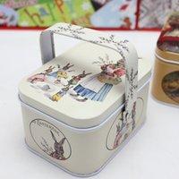 Nouvelle Arrivée Petite Vintage Petite Valise Storage Tin Candy Box Changer de boîte Écouteurs Boîte Small Valise T200117