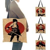 06123 Сумка из ткани Женщины Дизайнерские Сумки Аниме Наруто Sasuke Характер Распечатать Сумки Сумки Большие Емкость Для Школьных девушек