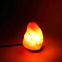 Премиум качества ночных огней Himalayan Ionic Crystal Salt Rock Lamp с диммерным кабельным шнуром выключатель UK сокет 1-2 кг - натуральный