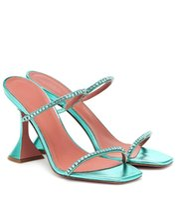 Sandálias ddyzhy cristal embelezado copo de salto alto chinelos festa formal shoes quadrado aberto vestido dedo celebridade mules