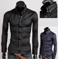 2020 جديد أزياء رجالي مصمم المشارب اللباس قمصان عارضة ضئيلة قمصان طويلة الأكمام تناسب الطراز الاجتماعي camisas masculinas للرجال قميص أوم