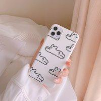 Peluche Bunny Cute Phone Custodia per iPhone 12 11 Pro Max XR XS Max 12 Mini 7Plus Custodia in silicone in silicone