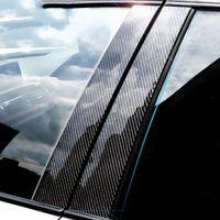 Etiqueta decorativa de la ventana del coche de la fibra de carbono E71 F25 E46 E60 E90 F30 F10 F20 F16 F07 E70 E44 E46 Etiqueta de calcomanías de estilo