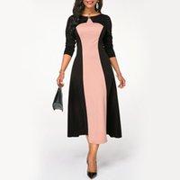 Vestidos Africanos para Mulheres 2020 Novo Africano Plus Size 4xL 5xl Retalhos Uma linha Longa noite noite noite elegante vestidos high-end1