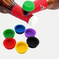Silikon Bira Şişe Kapak Yeniden Kullanım Pratik Renkli Kaçak Ücretsiz Şarap Bira İçecek Şişe Yenilik Sealer Stoper Kapak