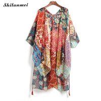 Summer Kimono Cardigan Long Blusa Blusa Boho Blusa Tops Tops Body Body Feminino Blusas Muyer de Moda Kimono Praia Tassel Shirt F1215