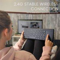 터치 패드가있는 무선 키보드는 X 자 모양의 가위 키가있는 TV 태블릿 및 스마트 폰이있는 여러 장치 연결을 지원합니다.