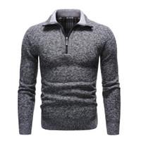 2021 Осень и зима Новые мужские свитера Высококачественные сплошные цветные пуловер мужские повседневные совокупные воротники толстые шерстяные пуловерные мужчины