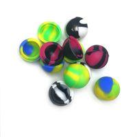 Contenitore di cera antiaderente Ball Silicone E-cig Accessori Batteria Food Grade Jars DAB Tool Jar per BHO Olio Misto colore 32mm 5ml