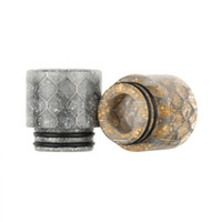 Serial E Wide Bore 810 Drip Tip Stainless Steel Epoxy Resin Snake Skin Honeycomb Mouthpieces for Ecig TFV12 prince subtank TVF8 Atomizer