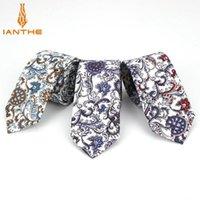 6cm Brand New Herren Mode Paisley Printed Vintage Slim Hals Krawatte Für Mann Klassische schmale dünne Baumwolle Krawatten Cravatas Gravatas1