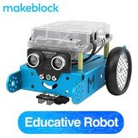 Mythblock MBOT DIY Robot Kit, Arduino, Программирование начального уровня для детей, Стем Образование. (Синяя, Bluetooth версия) LJ200919