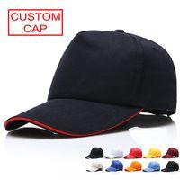 Пользовательские хлопчатобумажные 5 панелей простой бейсболка вышивка печать логотип Все цвета Доступно регулируемая шляпа ремешок для взрослых летний пустой солнцезащитный козырь