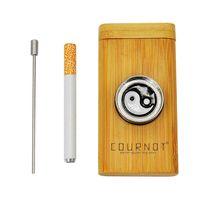 Madeira Dugout Uma máquina de fumaça de rebatedor com tubulação de fumaça Moedor Pitador Bildeiro Combo Cigarro Suporte Tubulação YH ST222