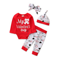 Baby Girl Wear Clothing Rose Long Sleeve Red Romper Heart Pa...