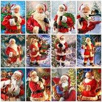 Evershine 5D DIY Рождественская рождественская рождество, роспись полной площади Санта-Клаус Крест крестом Стразы искусства бусины рисунки наборы домашнего декора1