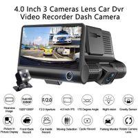 4 인치 3 방향 자동차 카메라 3 렌즈 비디오 등록자 대시 캠 비디오 레코더 G 센서 자동 대시 캠 자동차 DVR 운전 레코더
