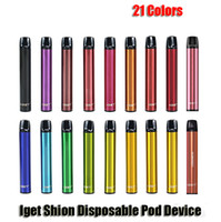 ORIGINAL IGET SHION RESPOSTA DO POD RESPOSTA 600 Puff 400mAh Bateria 2.4ml Cartucho Prefilado Vape Pen Authentic vs Bar Plus XXL MAX