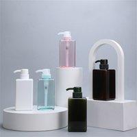 Мода оптом пластиковые пустые бутылки душевой гель для мытья тела 450 мл шампунь бутылки для мыла