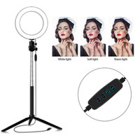 6 pollici LED Ring Light Photo Studio Camera Telecamera Fotografia Dimmerabile Video Light per YouTube Makeup Selfie con Treppiede Telefono