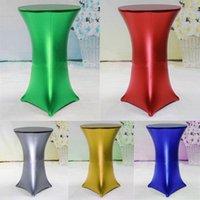 Table de table 7 couleurs Bronzing Cocktail de cocktail métallique Stretch Spandex Out Porte Mariage Decotation de fête