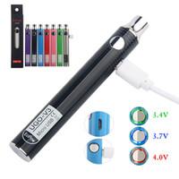 Orijinal ECPOW UGO V3 Pil 650 mAh 900 mAh Preheat VV Mikro USB Şarj 510 Konu Vape Kalem Pil ayrıca Ego VV Pil