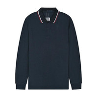 Sıcak Yeni İngiltere Erkekler Pamuk Fred Polo Gömlek Uzun Kollu Rahat Katı Polos İNGILTERE Rahat Giyim Kış Slim Fit Perry T-Shirt Donanma Mavi Siyah