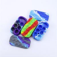 6 + 1 contenitori di cera di silicio 34ml Concentrate Jar non slick Storage Jars 7in1 DABBER Box DAB Cans 6mlx4 + 10ml Barattoli colorati colorati