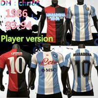 Versión del jugador Napoli Cuarto 1986 Argentina Maradona Soccer Jersey Retro Versión Newells Old Boys 2020 Maradona # 10 Camisa de Fútbol de Calidad