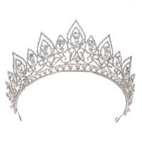 Cabelos Barrettes Barrettes Coroa Cristal De Cristal Acessórios Tiara Nobre Ouro Strass Headdress1