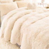 AAG Новое поступление роскошные длинные шаггические броска одеяло постельное белье литы большой размер теплый мягкий толстый пушистый диван шерпа одеяла наволочка LJ200819