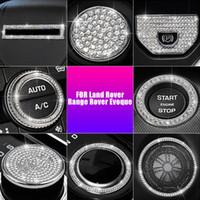 자동차 다이아몬드 후방 에어콘 벤트 / 스티어링 휠 버튼 트림 커버 프레임 토지 로버 범위 로버 EVOQUE 2014-2018 스타일
