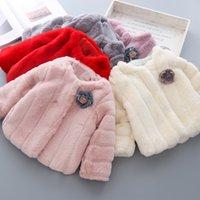 Babyinstar FUAX Kürk Ceket Çocuk Yün Karışımları Çocuklar Kış Ceket Kızlar Mont Çocuklar Için Çiçek Çocuk Ceketler Ceketler 201110
