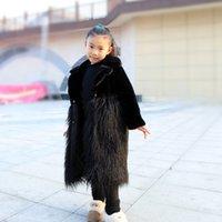 PPXX Inverno Baby Girl Cappotto di pelliccia della lana Giacca di lana Bambini di lana Faux Rabbit Cappotti di pelliccia di coniglio calda Bambini spessi Inverno Outwear Plus Size LJ201125