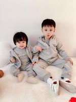 Bebé infantil de alta calidad Costume Baby Girl Autumn Newborn Kids Sweatshirt + Pantalones 2pcs chándals traje niños ropa deportiva