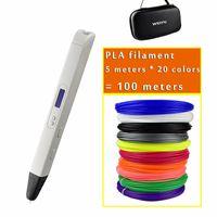Новый RP800A 3D Profession Professer Pener с OLED-экраном 3D рисунок цифровой ручкой для рисовала художественного ремесла и образование Y200428