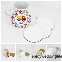 DIY Sublimation Blank Cup Mat MDF Wooden Insulated Cup Coasters Kitchen Accessories Mat Cup Bar Mug Drink Pads
