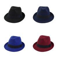 Chapéu de lã Hemming Jazz Cap Formal Cabeça Pressões Pequenos Amantes Moda Mulher Homem Headgear Estilo Britânico Outono Inverno 10 5NP K2
