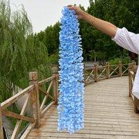 زينة الزفاف الزهور الاصطناعية 1 متر أدوات سقف معلقة الحلي الملونة زهرة الدعامة محاكاة ديكور الزهور سلسلة 1 71nd g2