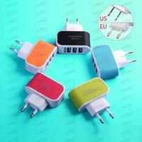 아이폰 6 7 플러스 3 포트 빠른 충전 USB 충전기 3.1A 트리플 USB 포트 벽 홈 여행 AC 충전기 어댑터 US EU 플러그 안드로이드 및 iOS