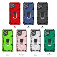 Anti-güz darbeye dayanıklı zırh kickstand telefon kılıfı iphone 12 mini 11 pro xr xs max x 6 6 s 7 8 artı manyetik parmak yüzük kapak