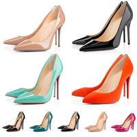 red bottoms high heels shoes dress shoes 2021 Top Mode Bas Rouge Talons Hauts Femmes Parti Mariage Designer Plateforme Robe Chaussures Pointes Bout Pointu Escarpins Fond Rouge