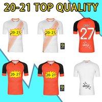 2021 Thaïlande Maillots FC Lorient Soccer Jerseys Home Away 2020 2021 Maillot de pied Lorient Hergault Umut Bozok Le Fee GRBI #Football Shir