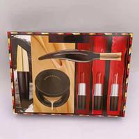 1Set Dropship Marke 6pcs Makeup Set Kosmetikbündel 3 Lippenstifte + 1 Mascara + 1 Eyeliner + 1 Cusion Makeup Kit Weihnachtsgeschenk