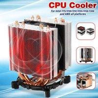 LEORY CPU Refrigeratore 6 Tubi di calore Dual Fan Radiatore di raffreddamento della ventola di raffreddamento della ventola di raffreddamento radiatore per Intel 775/1150/1151/1155/1156/1366 e AMD