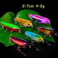 6 Farbe Mixed 5.7cm 4.5g 3D Eyes Bleistift harte Köder Köder Angelhaken 10 # Haken Pesca Angelausrüstung BL_275