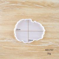 실리콘 웨이브 컵 매트 DIY 베이킹 곰팡이 껍질 구름 수지 금형 컵 트레이 코스터 쥬얼리 절묘한 3 5HJ E2